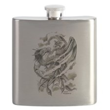 Dragon Phoenix Tattoo Art A4 Flask