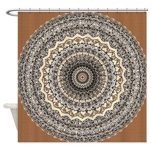 Bygone Love Mandala Shower Curtain By Damask Patterns