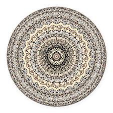 Bygone Love Mandala Round Car Magnet