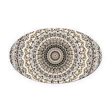 Bygone Love Mandala Oval Car Magnet
