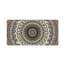 Bygone Love Mandala Aluminum License Plate