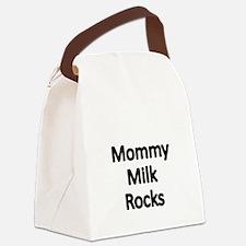 MOMMY MILK ROCKS Canvas Lunch Bag
