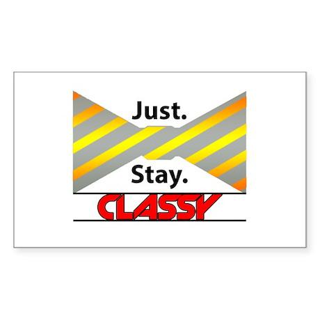 Just Stay Classy Sticker