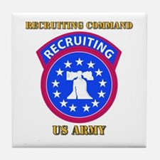 SSI - Army - Recruiting Command with Text Tile Coa