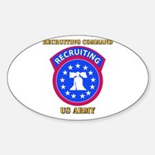 SSI - Army - Recruiting Command with Text Decal