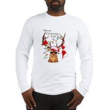 Stag man Christmas Long Sleeve T-Shirt