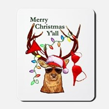 Stag man Christmas Mousepad