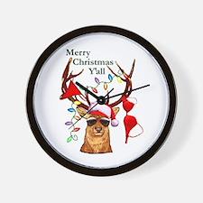 Stag man Christmas Wall Clock