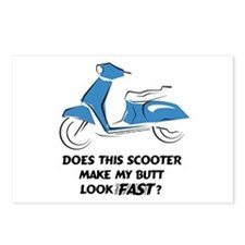 Fast Butt (Blue) Postcards (Package of 8)