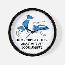 Fast Butt (Blue) Wall Clock