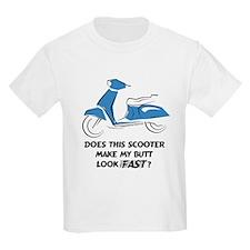 Fast Butt (Blue) Kids T-Shirt