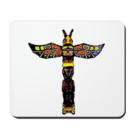Tribal Totem Pole Mousepad