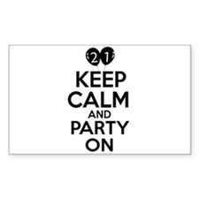 21 , Keep Calm And Party On Decal