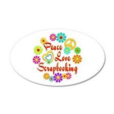 Peace Love Scrapbooking Wall Decal
