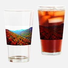 Through The Mountains Drinking Glass