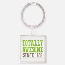Totally Awesome Since 1958 Square Keychain