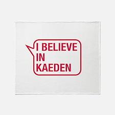 I Believe In Kaeden Throw Blanket