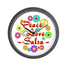 Peace Love Salsa Wall Clock