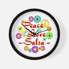 Peace Love Salsa Wall Clock