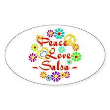 Peace Love Salsa Decal