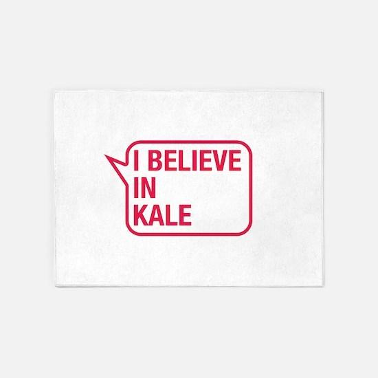 I Believe In Kale 5'x7'Area Rug