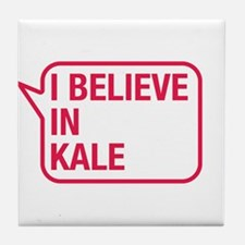 I Believe In Kale Tile Coaster