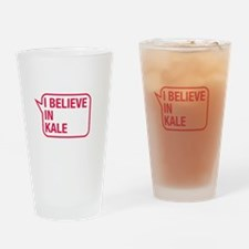 I Believe In Kale Drinking Glass