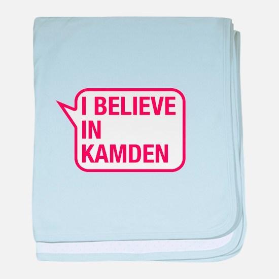 I Believe In Kamden baby blanket
