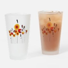 Contemporary California Poppies Drinking Glass