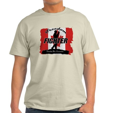Freedom Fighter Canada T-Shirt by FightGirlDesigns