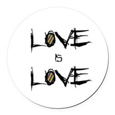 Love is Love (rainbow) Round Car Magnet