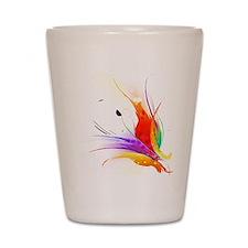 Abstract Bird of Paradise paint splatter art Shot