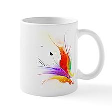 Abstract Bird of Paradise paint splatter art Mug
