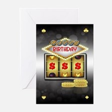 Birthday Greeting Card Casino Theme Wit (Pk of 10)