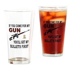 GUN Drinking Glass