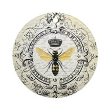 Vintage French Queen Bee Ornament (Round)