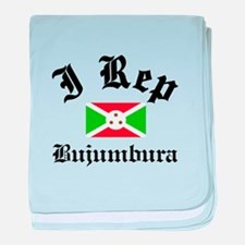 I rep Bujumbura baby blanket