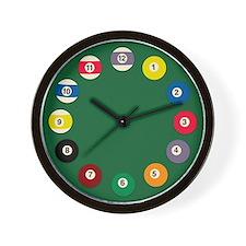 Billard balls Wall Clock