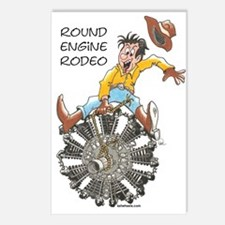 Round Engine Rodeo Postcards (Package of 8)