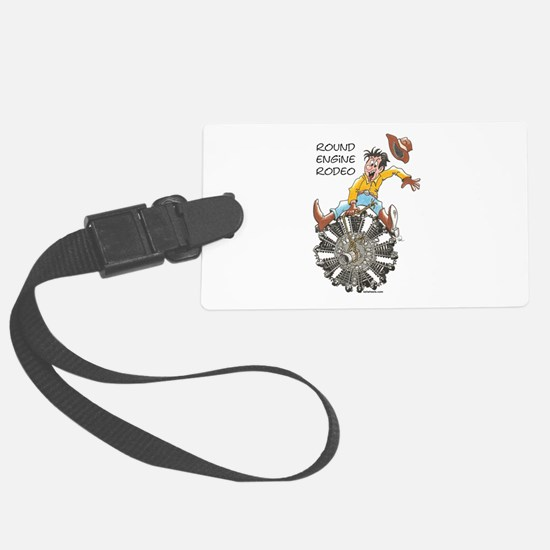Round Engine Rodeo Luggage Tag
