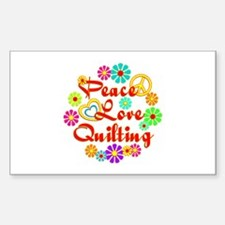 Peace Love Quilting Decal