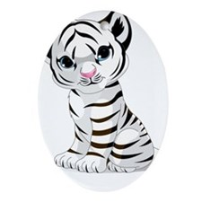 Baby White Tiger Ornament (Oval)