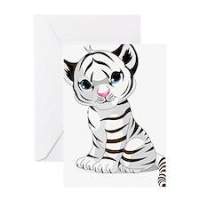 Baby White Tiger Greeting Card