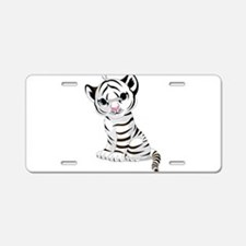 Baby White Tiger Aluminum License Plate
