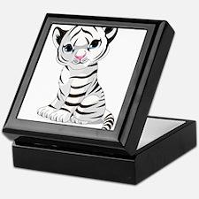 Baby White Tiger Keepsake Box