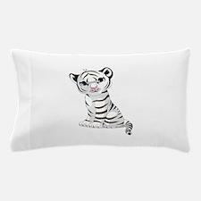 Baby White Tiger Pillow Case