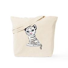 Baby White Tiger Tote Bag