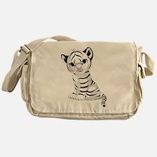 Baby White Tiger Messenger Bag