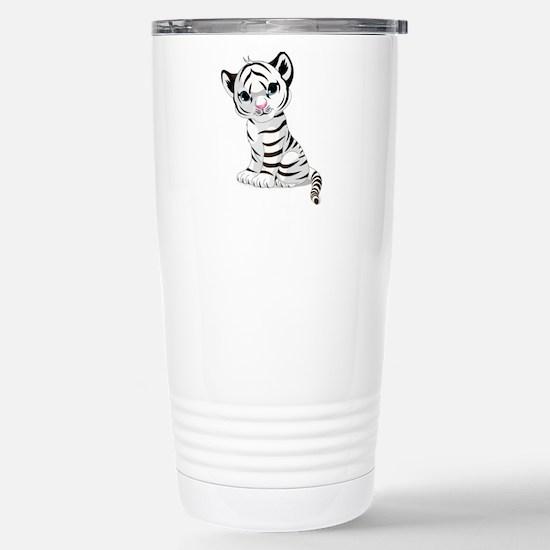 Baby White Tiger Travel Mug