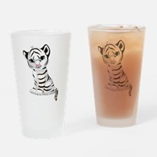 Baby White Tiger Drinking Glass